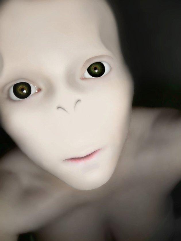 Chelsea Turner Alien Self Portrait
